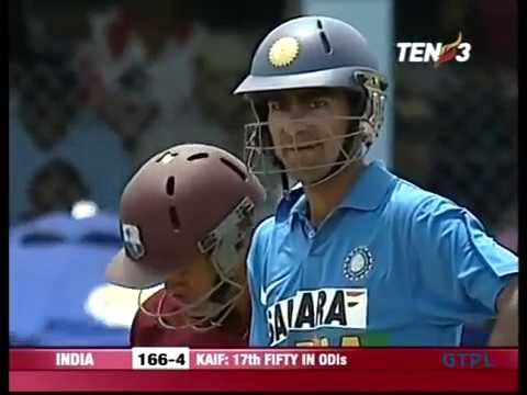 Mohammad Kaif 62 V West Indies 4th ODI 2006 @ Port Of Spain