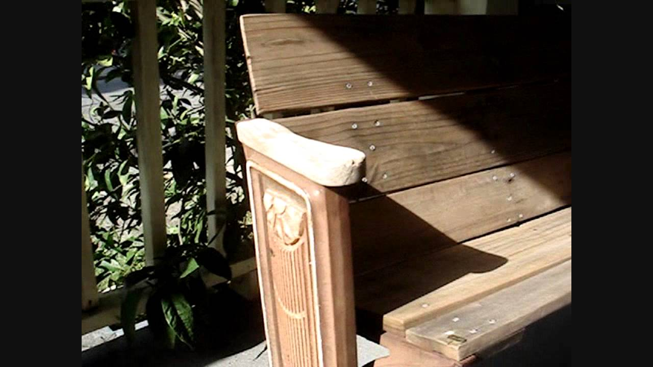 Antique Art Deco Sun Theater Seat Cast Iron Circa 1920 Amp Upcycled Wood Garden Bench Youtube