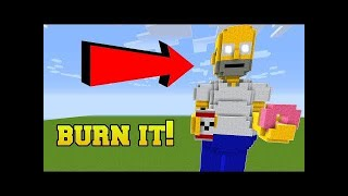 PopularMMOs Pat and Jen Minecraft: IS THAT HOMER SIMPSON?!? BURN HIM!!!