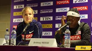 Darya Klishina Дарья Клишина 2017 8v IAAF World Championships London August 11th press conference