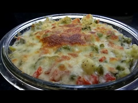 Baked Vegetable   Perfect For Breakfast Lunch N Dinner Recipes veg Au Gratin