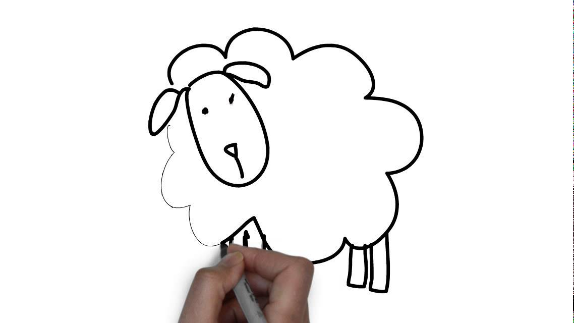 Comment dessiner un mouton youtube - Mouton a dessiner ...