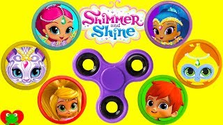 Shimmer and Shine Fidget Spinner Game Best Learn Colors Video Shopkins Season 8 World Vacation