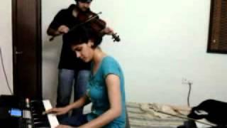 teri yaadein - love story(instrumental) (keyboard + violin)