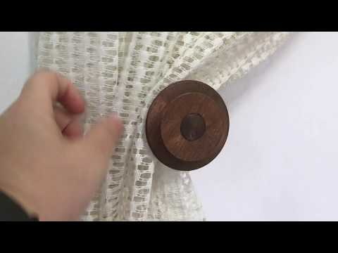 How to install: Wooden Richmond Curtain tieback/holdback