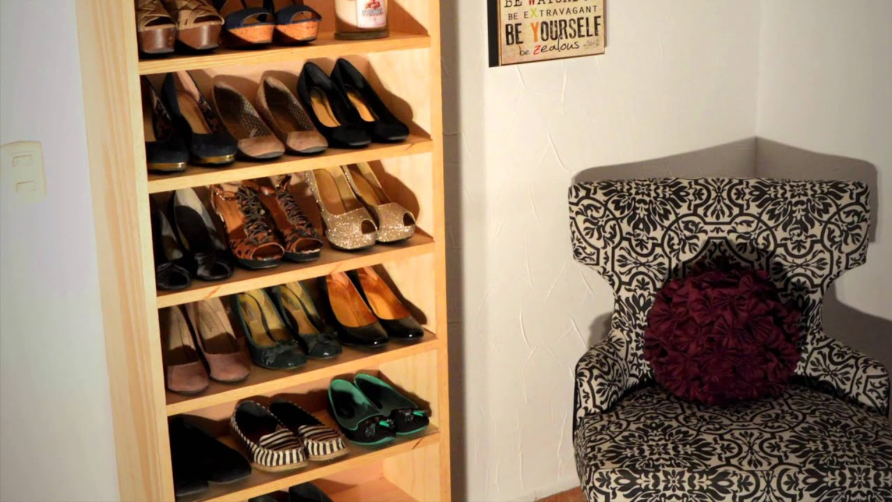 Closets closets zapatera color natural youtube for Disenos de zapateras para closet