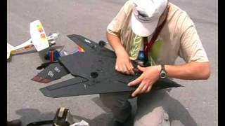 F-117 nighthawk stealth rc plane maiden flight.