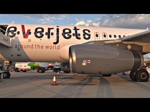Cobalt Air / Everjets A320 | Boarding & Sunset Takeoff from Larnaca | GoPro Wing View