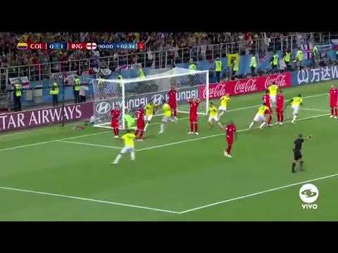 El Gol de Yerry Mina ⚽ / Recuerdo / Colombia 🇨🇴- Inglaterra🇬🇧