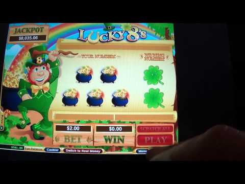 Lucky 8s Easy Scratchcard Game WIN BIG