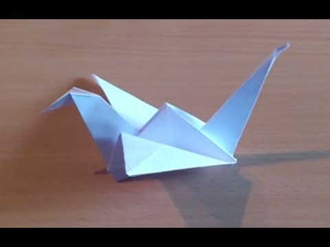 faire une grue en origami fabriquer une grue qui vole en papier youtube. Black Bedroom Furniture Sets. Home Design Ideas