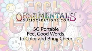 OrnaMENTALs™ Feel Good Words To-Go Coloring Book