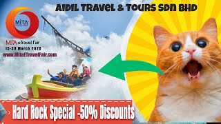 Hard Rock Special Offer -50% Discounts at MITA eTRAVEL FAIR