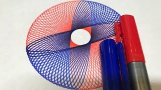 Half Red Half Blue Design | Spirograph