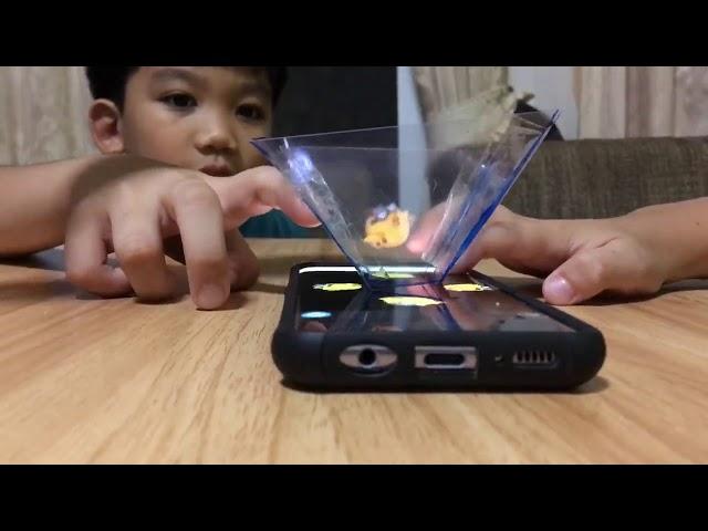 น้องปุญนำความรู้ในค่ายปั้นเด็กเขียนเกมมาลองทำ Hologram