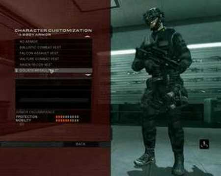 how to get to create character in rainbow six vegas