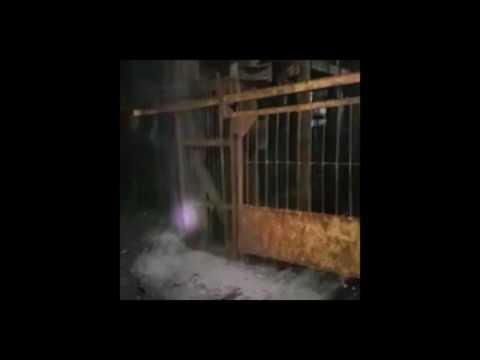 Видео затопления шахты...