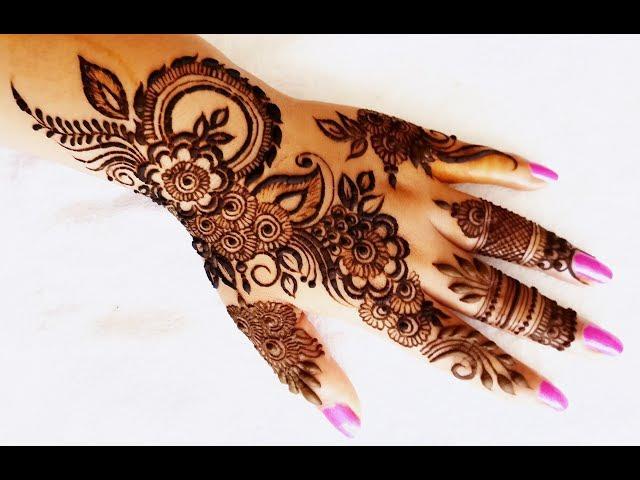 Easy Beautiful Heena Mehndi Design For Navratri Navratri