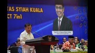 FULL: Orasi Ilmiah Wakil Presiden Jusuf Kalla pada Milad ke-58 Universitas Syiah Kuala Aceh