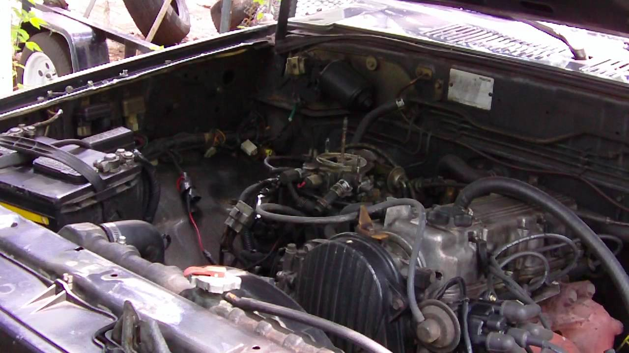 Mazda B2200 Carburetor Diagram Verizon Fios Home Wiring Carb Cleaning For My 1989 Youtube