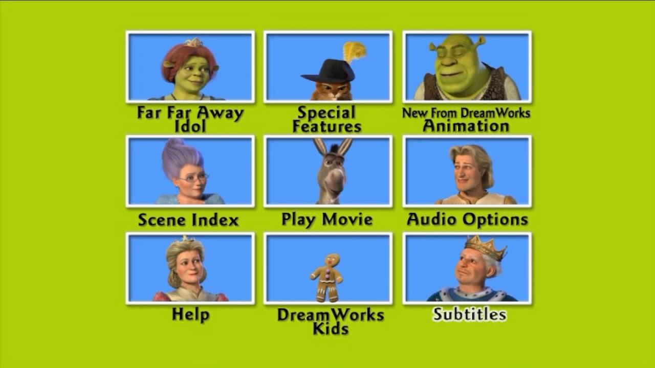 Shrek Ii Dvd Menu Walkthrough Youtube