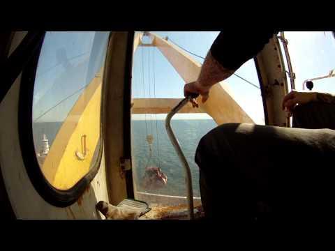 Working a ships crane