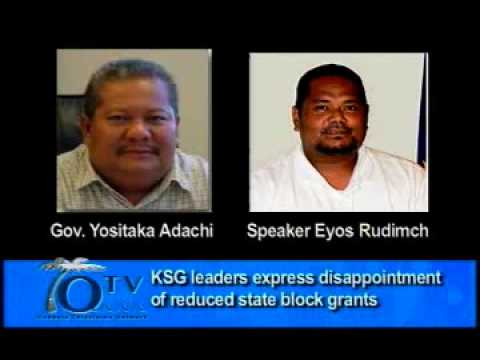 Koror State Leaders Express Disappointment Over Reduced Block Grant