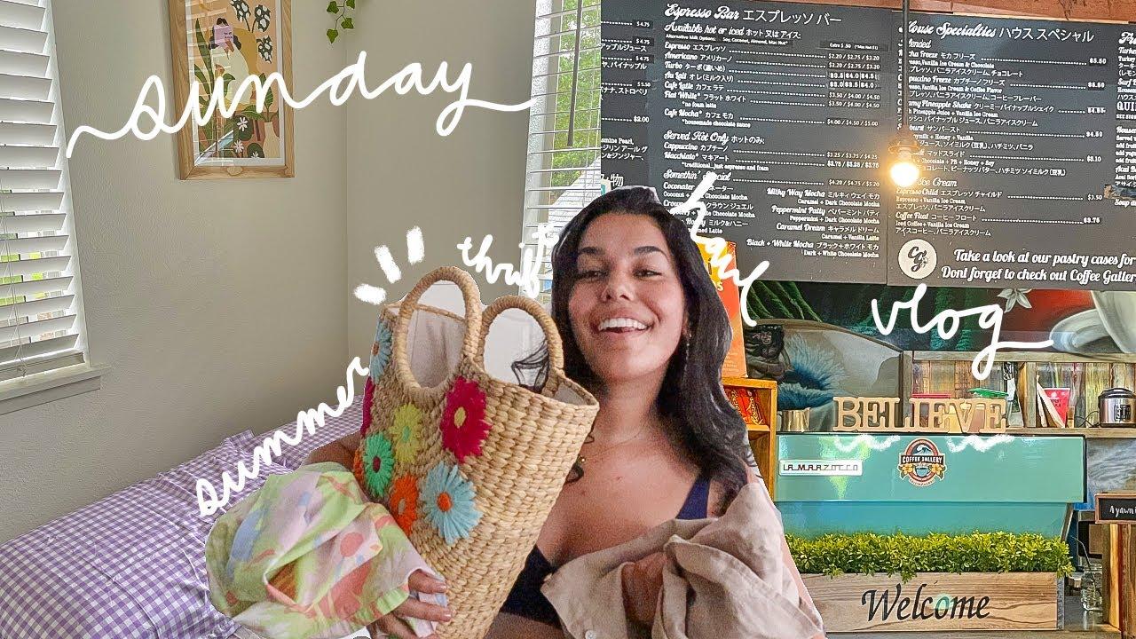 sunday vlog! summer thrift haul, matcha