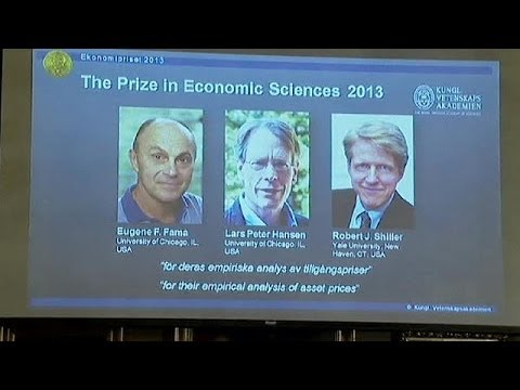 Nobel prize for economics awarded to three US professors for asset price 'trendspotting'