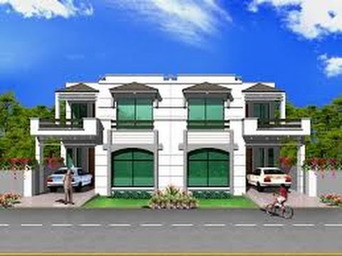 Front Elevation Of 5 Marla House Youtube