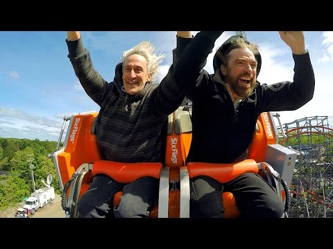 Wicked Cyclone ridercam on-ride reverse HD POV @60fps Six Flags New England