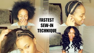 How To do Full-Sew-in in 10 Minutes Beginner Friendly