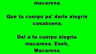 Macarena with lyrics (SME)