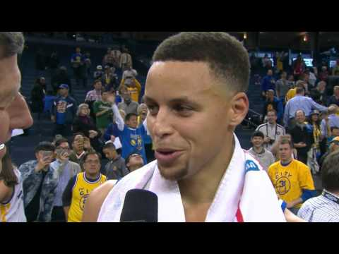 Steph Curry Pays Homage To Craig Sager During Post Game Interview
