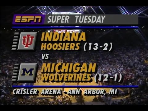1993 #6 Indiana at #2 Michigan College Basketball