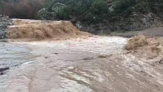 Akhisar Çağlak deresinde yoğun yağmur sonrası