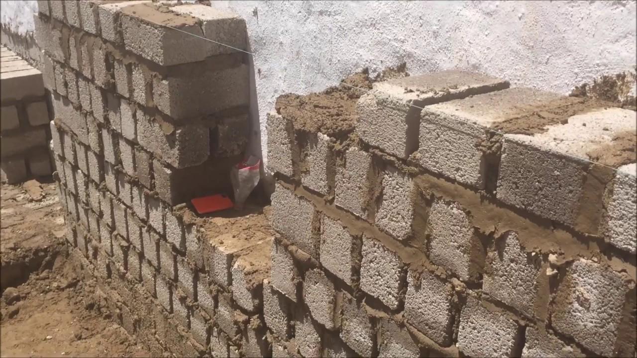 Bloques de hormig n colocaci n de los bloques para pared - Aplicacion de microcemento en paredes ...