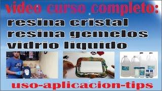 CURSO RESINA GEMELOS, RESINA CRISTAL, VIDRIO LIQUIDO, RESINA EPOXICA.  decoracion artesanias decorar