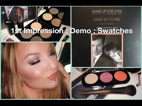 1st Impression : Demo : Make Up For Ever and Fifty Shades of Grey Makeup Sets
