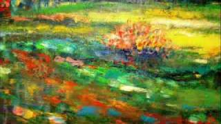 How to paint Springtime Blossom: Impressionist style: Acrylic on Board by Rami Benatar.wmv
