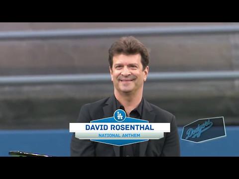 DAVID ROSENTHAL National Anthem at Dodger Stadium 05102017
