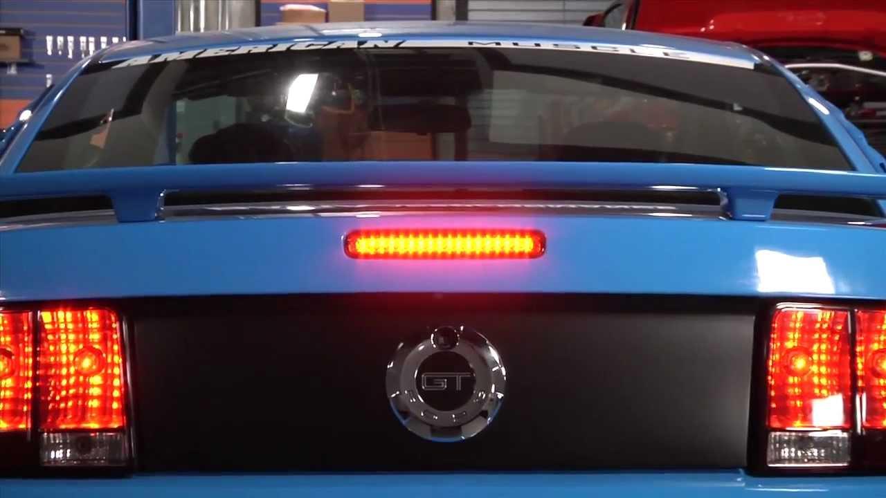 Mustang Smoked Led Third Brake Light 05 09 All Install