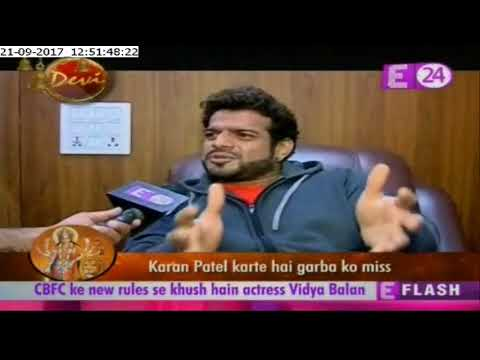 "U Me Aur Tv  With ""Karan Patel's"" Interview On Navratri"