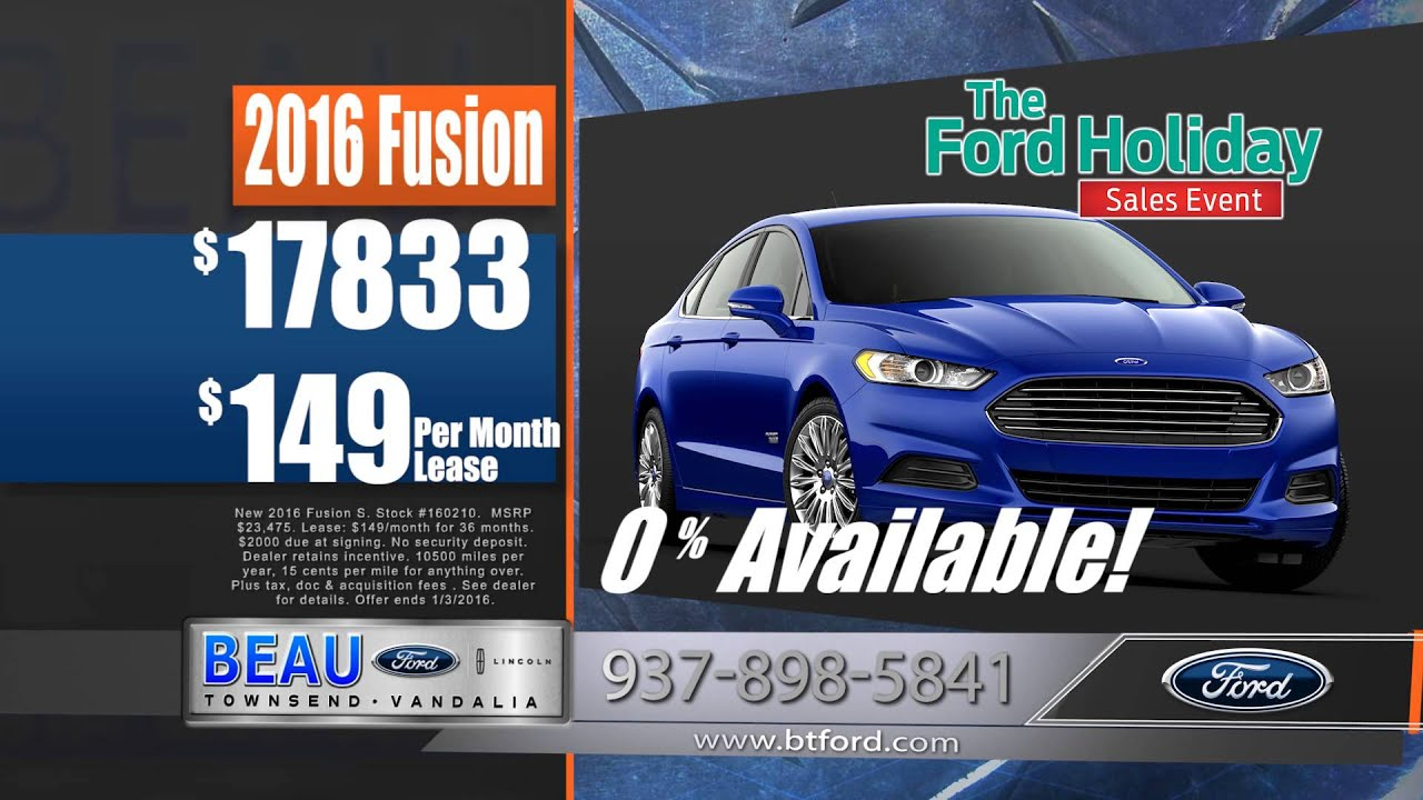 Beau Townsend Ford >> December Specials 2015 Beau Townsend Ford - YouTube