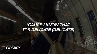 "TAYLOR SWIFT ""DELICATE"" OFFICIAL MUSIC VIDEO LYRICS"