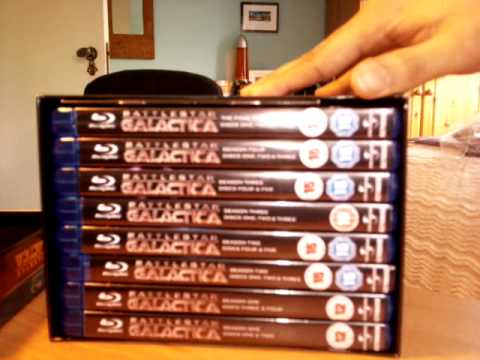 Battlestar Galactica - Complete Series Blu-Ray UK New Box Vs Tin Packaging Comparison