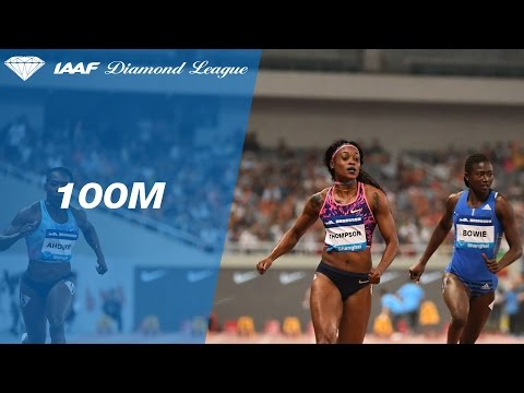 Elaine Thompson sprints home the Women's 100m - IAAF Diamond League Shanghai 2017