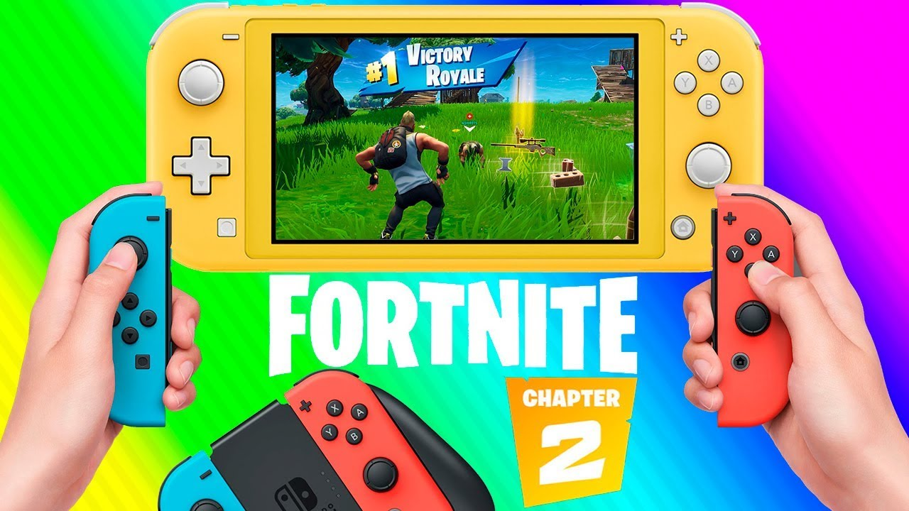 Fortnite Chapter 2 Nintendo Switch Lite Gameplay With Joy Cons Why Easy Battle 1 Victory Royale