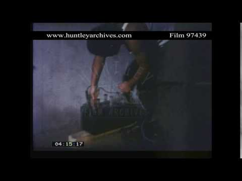 Recreation of Torture by Electric Shock.  Archive film 97439