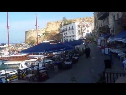 walking through kyrenia harbour, cyprus (feb 2016 )